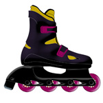 Inline Skates Product Illustration